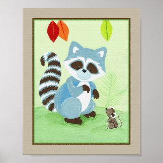 森林友人-アライグマ ポスター