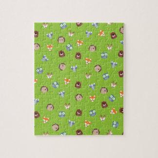 森林友人-キツネくまのアライグマのハリネズミのシカ ジグソーパズル