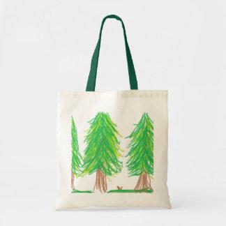 森林場面バッグ トートバッグ