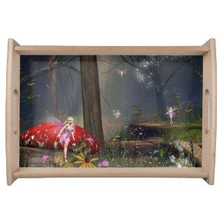 森林妖精のサービングの皿 トレー