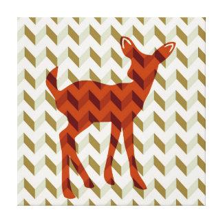 森林子鹿のキャンバスの覆い キャンバスプリント