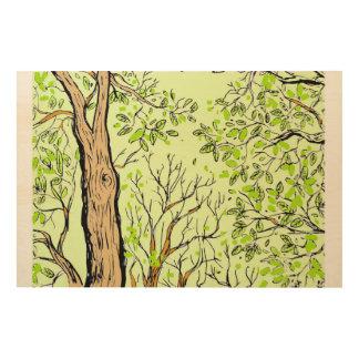 森林木のパネルの芸術 ウッドウォールアート