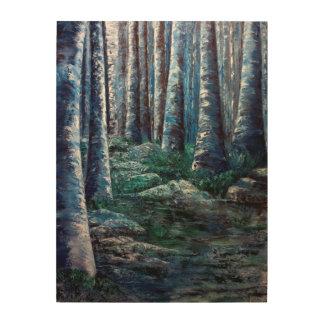 森林木製のプリントの遠隔場所 ウッドウォールアート
