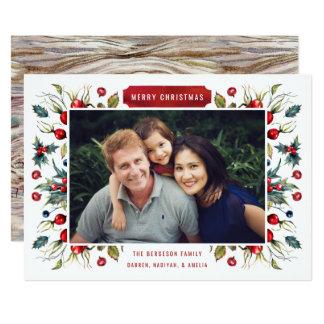 森林果実の写真のクリスマスカード 12.7 X 17.8 インビテーションカード