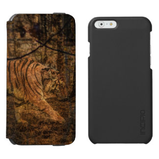 森林森林野性生物の威厳のあるな野生のトラ INCIPIO WATSON™ iPhone 6 ウォレットケース