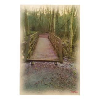 森林橋 ウッドウォールアート