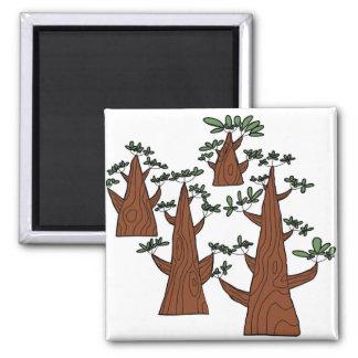 森林正方形の磁石 マグネット