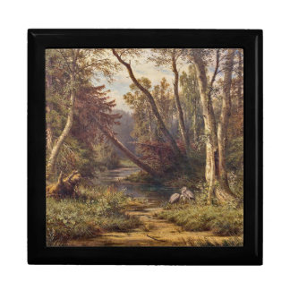 森林流れの鷲の鳥草原のギフト用の箱 ギフトボックス