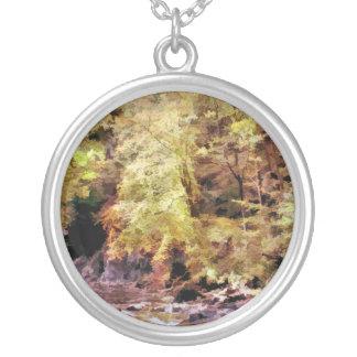 森林流れ シルバープレートネックレス