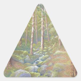 森林流れ、ピーク地区の三角形のステッカー 三角形シール