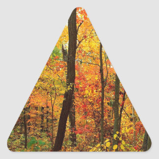森林深紅色のアパラチア山脈 三角形シール