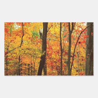 森林深紅色のアパラチア山脈 長方形シール