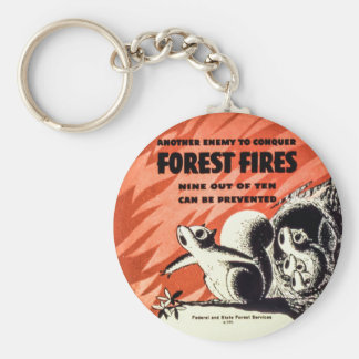 森林火災のヴィンテージを征服するもう一人の敵 キーホルダー