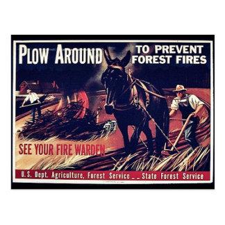 森林火災を防ぐすき ポストカード
