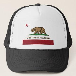 森林牧場カリフォルニア共和国の旗 キャップ
