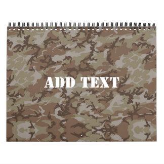 森林砂漠MilitaryCamouflage カレンダー