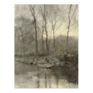 森林端水、アントンの藤色 ポストカード