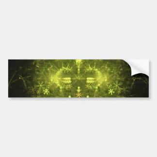森林精神。 緑及び黒いフラクタル バンパーステッカー