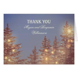 森林素朴な結婚式は感謝していしています カード