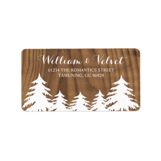 森林結婚式のラベル 宛名ラベル