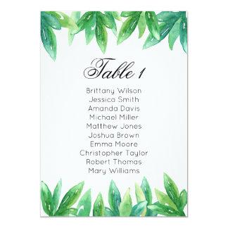 森林結婚式の座席の図表。 庭のテーブルの計画 カード