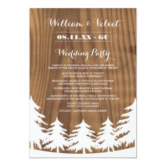 森林結婚式プログラム 12.7 X 17.8 インビテーションカード