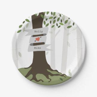 森林結婚式 ペーパープレート
