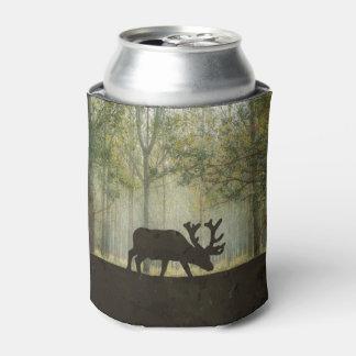 森林絵のアメリカヘラジカ 缶クーラー