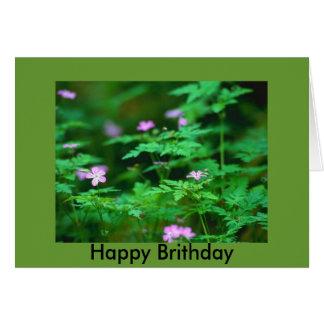 森林花、幸せなBrithday カード