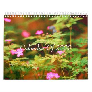 森林花、2009年のカレンダー カレンダー