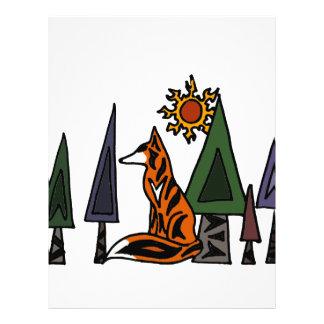 森林芸術の芸術的なアカギツネ レターヘッド