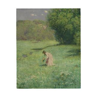 森林草原1876年 ウッドウォールアート