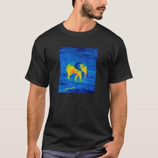 森林象-灰色熱イメージ Tシャツ