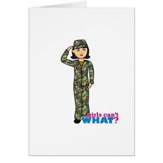 森林軍隊のカムフラージュの女の子 カード