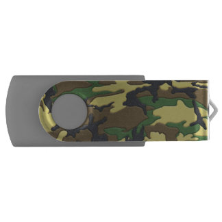 森林迷彩柄のカムフラージュ USBフラッシュドライブ