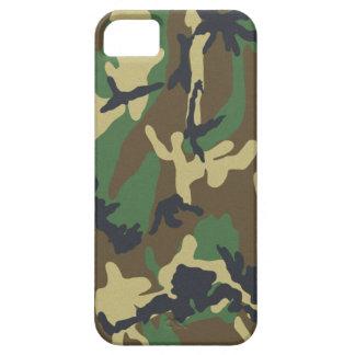 森林迷彩柄のiPhone 5のやっとそこに普遍的な場合 iPhone SE/5/5s ケース