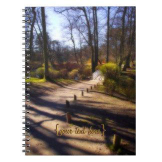 森林道および橋 ノートブック