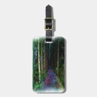 森林道のスケッチ ラゲッジタグ