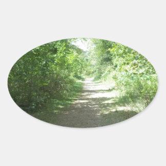 森林道 楕円形シール