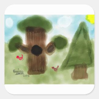 森林 スクエアシール