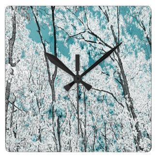 森林 スクエア壁時計