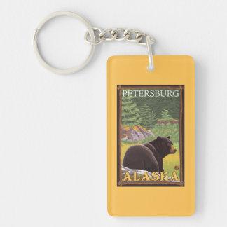 森林-ピーターズバーグ、アラスカのツキノワグマ キーホルダー