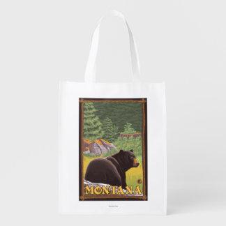 森林-モンタナのツキノワグマ エコバッグ