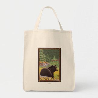 森林-モンタナのツキノワグマ トートバッグ