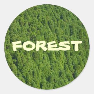 森林 ラウンドシール