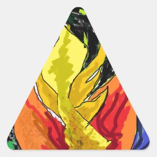 森林 三角形シール