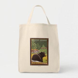 森林-山アダムス、ワシントン州のツキノワグマ トートバッグ