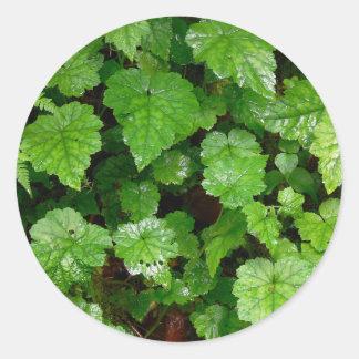 森林|床 丸形シール・ステッカー
