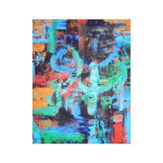 森林-抽象美術のキャンバスの歩行 キャンバスプリント