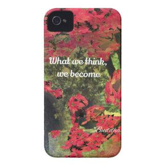 森林、花、spititualメッセージが付いている壁 Case-Mate iPhone 4 ケース